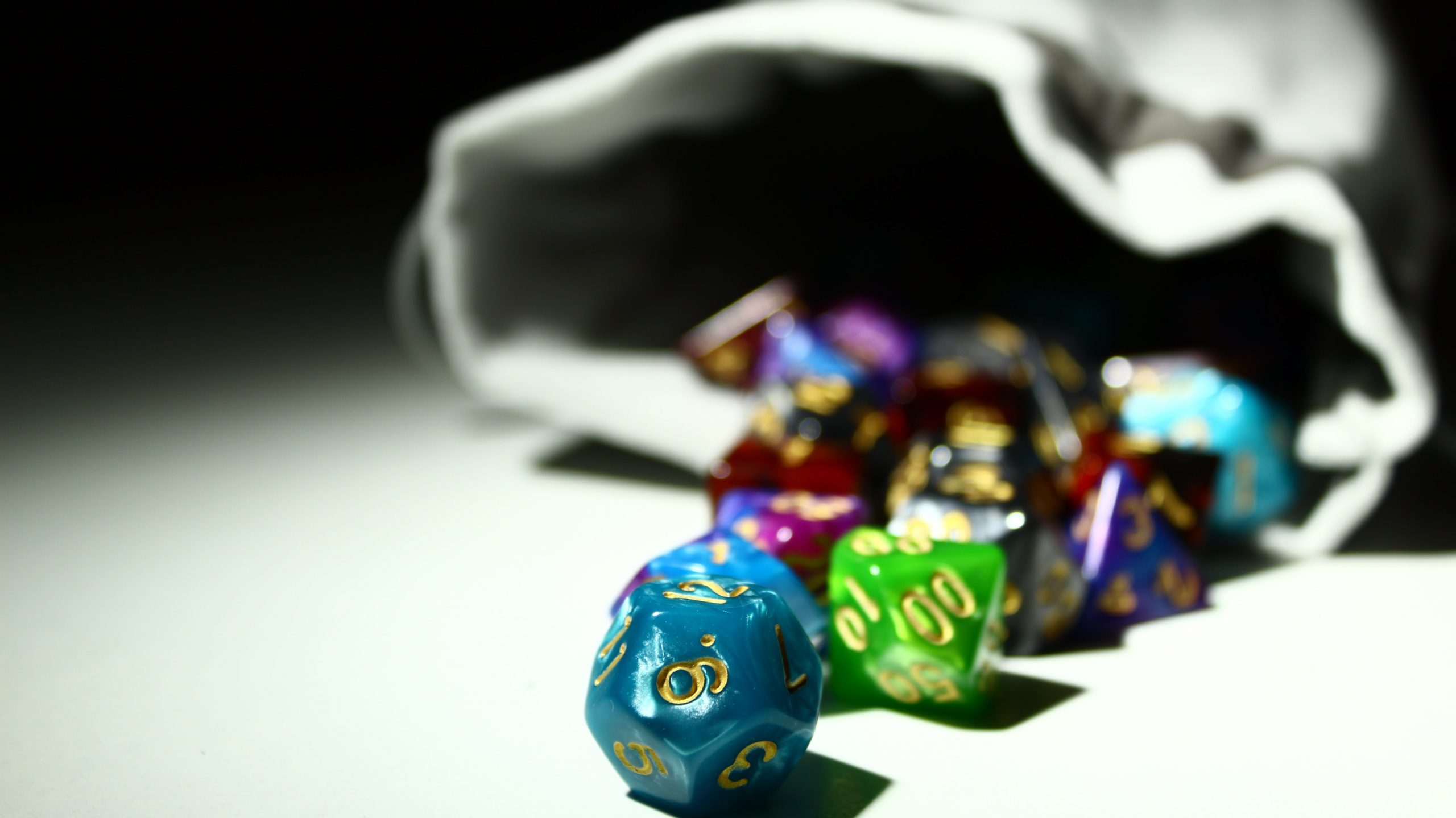 Budget D&D Polyhedral Dice with Bag